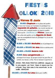Programa Fiestas 2018 página 1