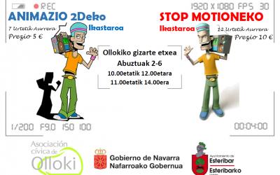 TAILERRAK: ANIMAZIO 2dEKO eta STOP MOTION Ikastaroa